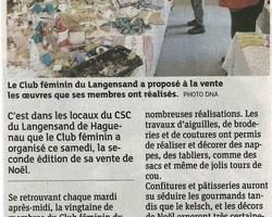 Centre socioculturel du Langensand – HAGUENAU - Galerie - Revue de presse