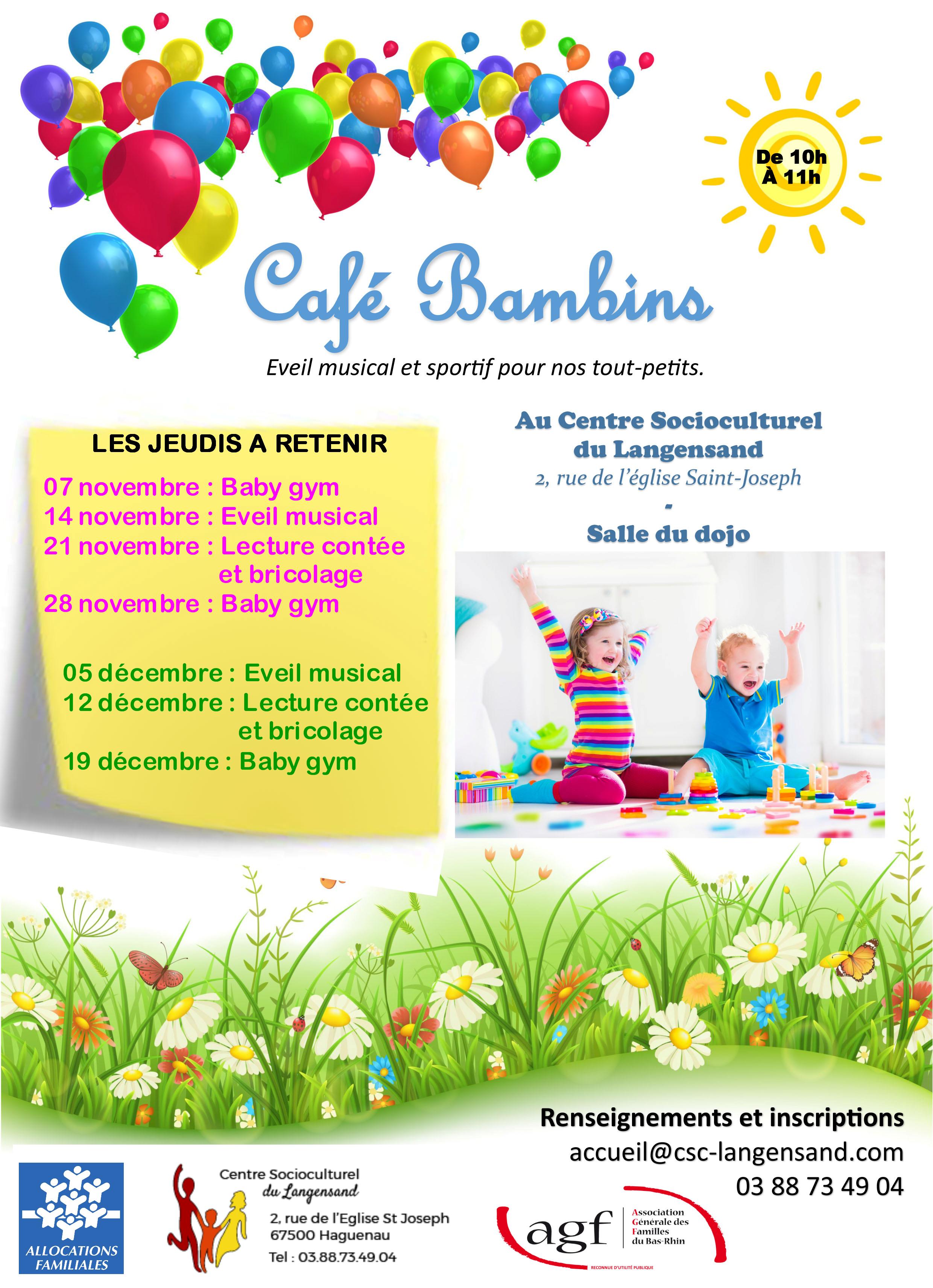 Ateliers « Café Bambins »