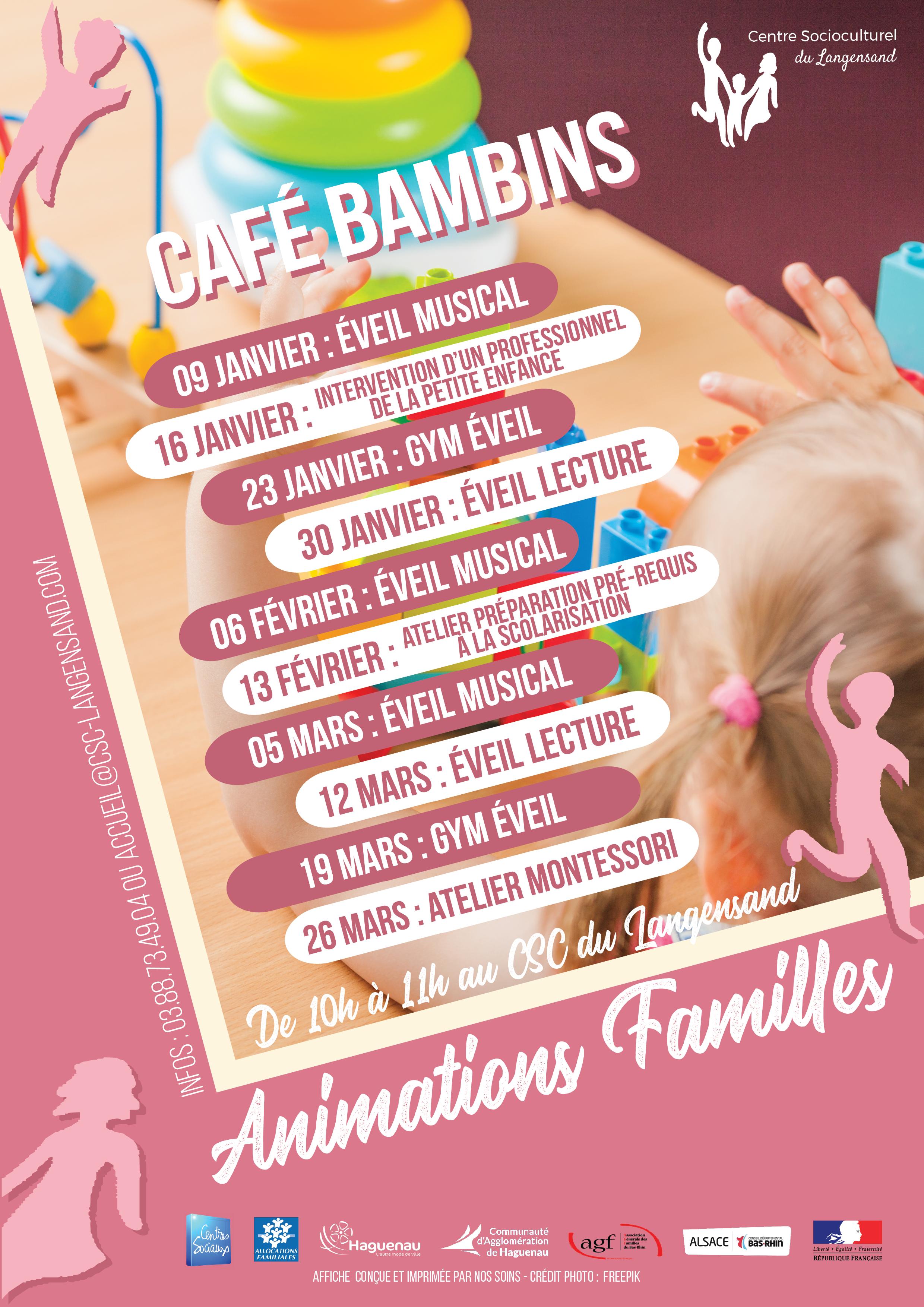 Animations Familles : Découvrez le programme « Café Bambins »