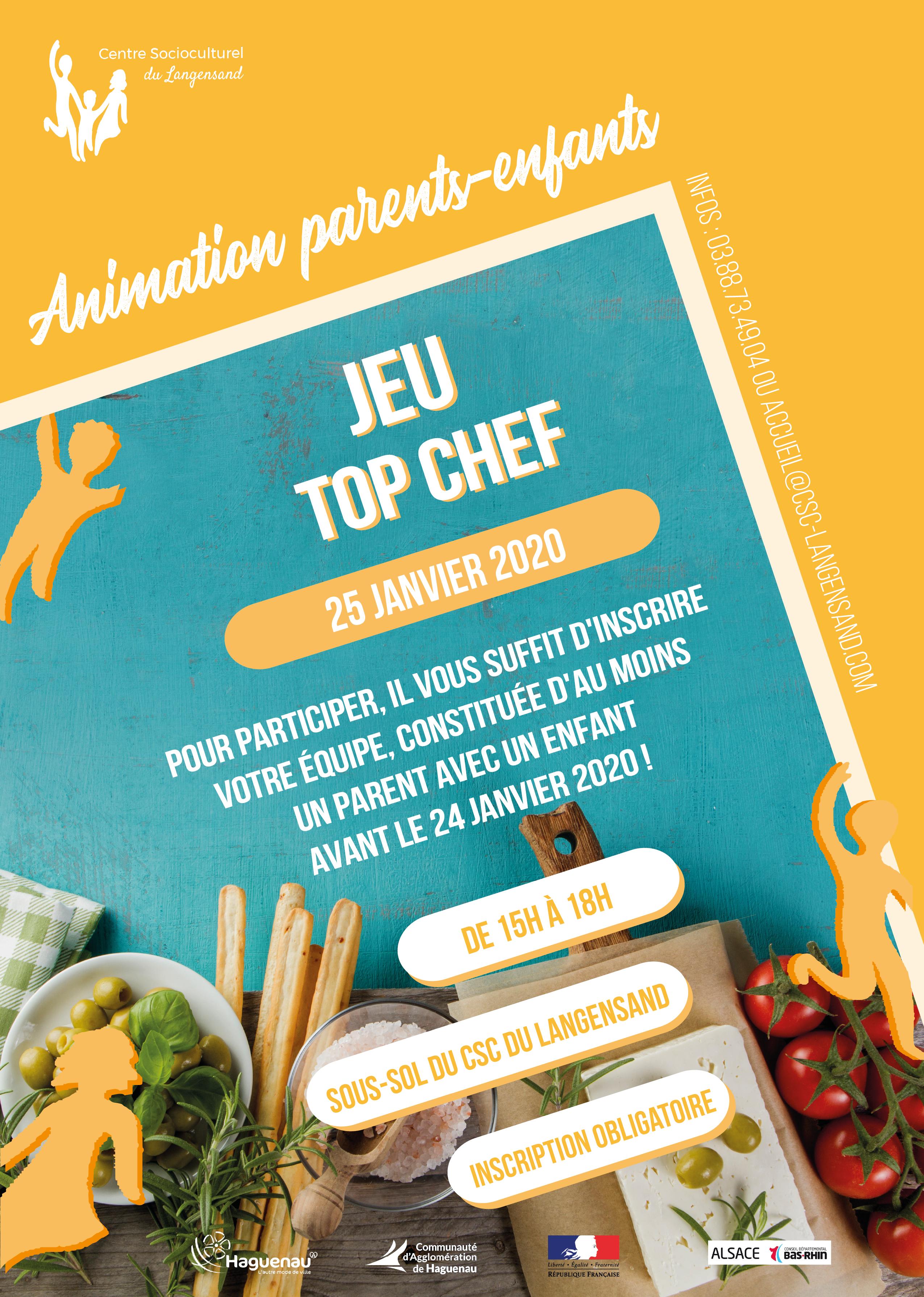 Animation parents-enfants : Jeu « Top Chef »