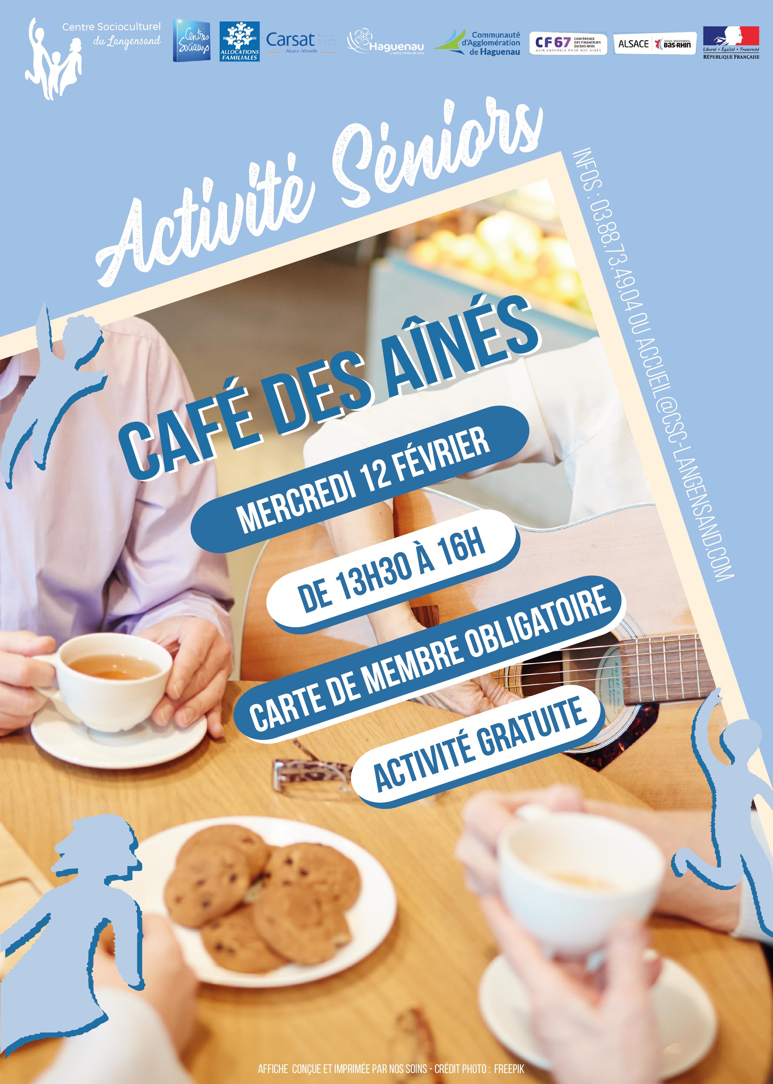 Activité seniors : Café des aînés
