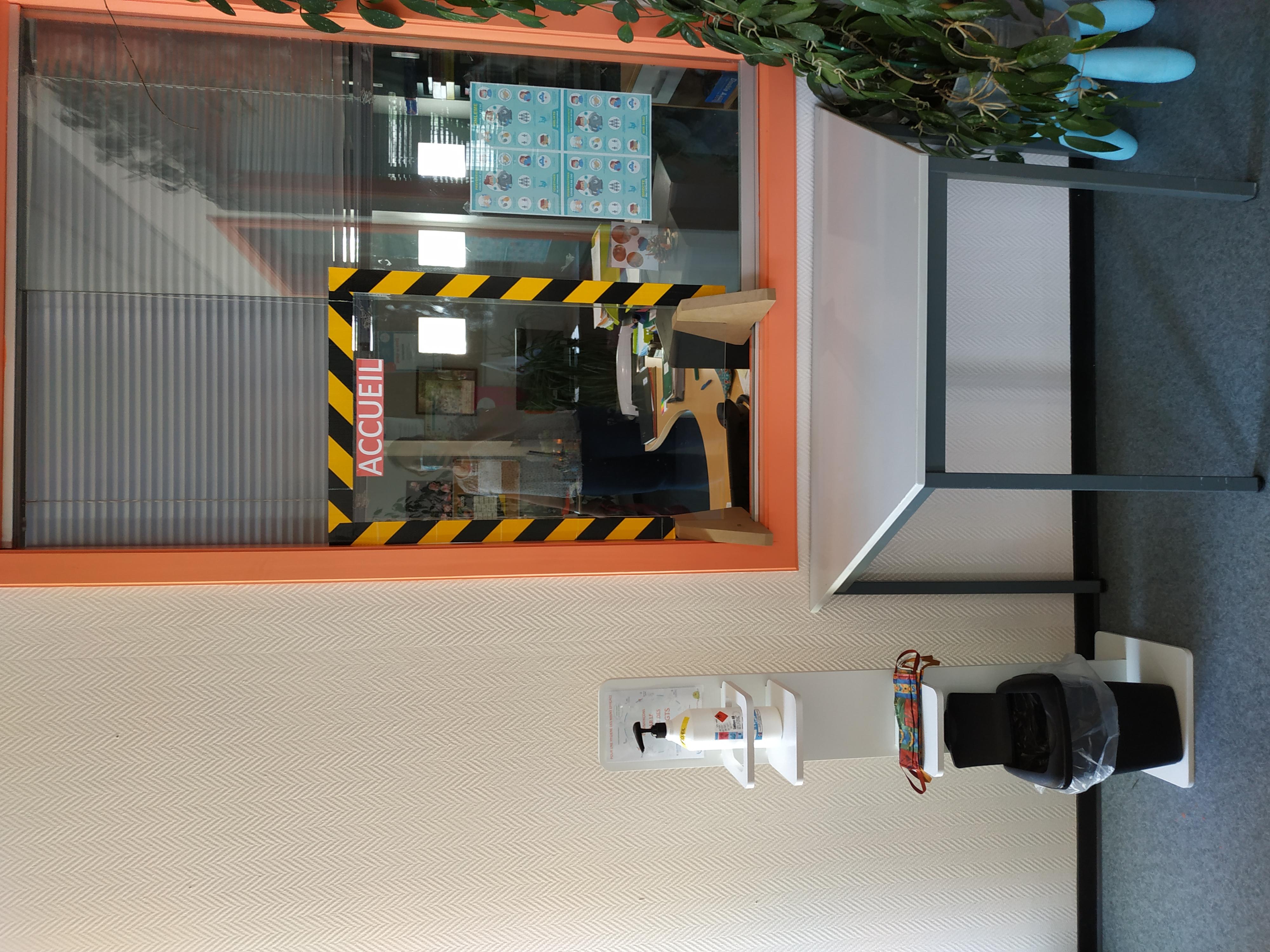 Gestes barrières au CSC du Langensand