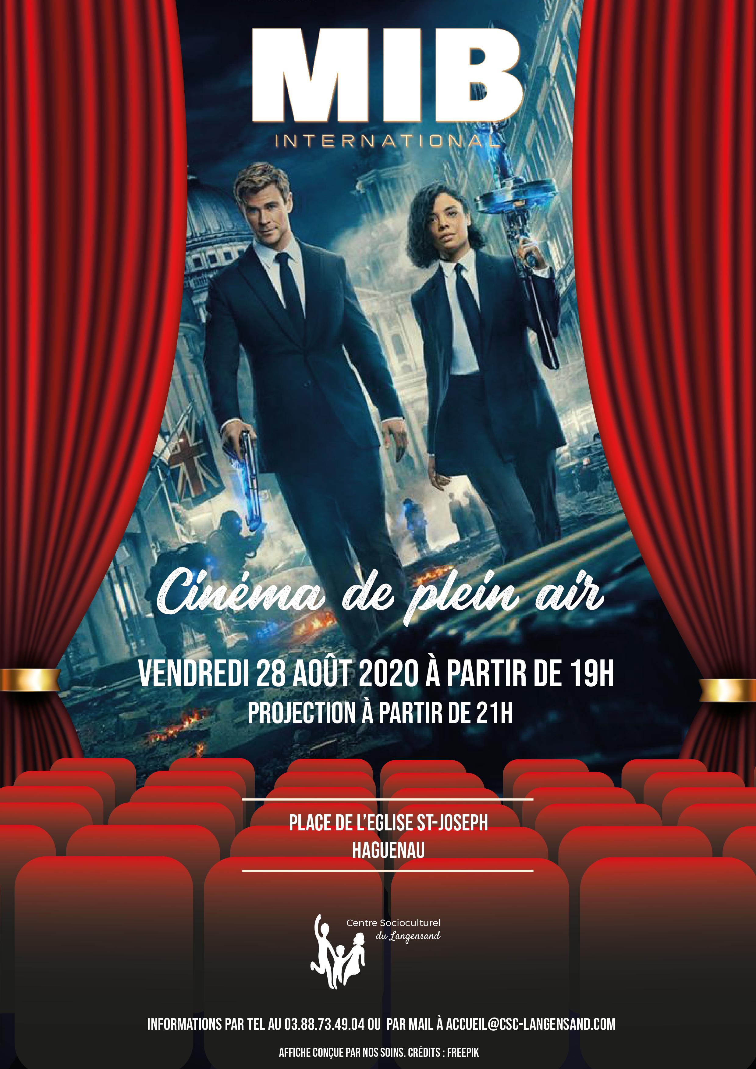 Soirée cinéma de plein air - Men in Black : International