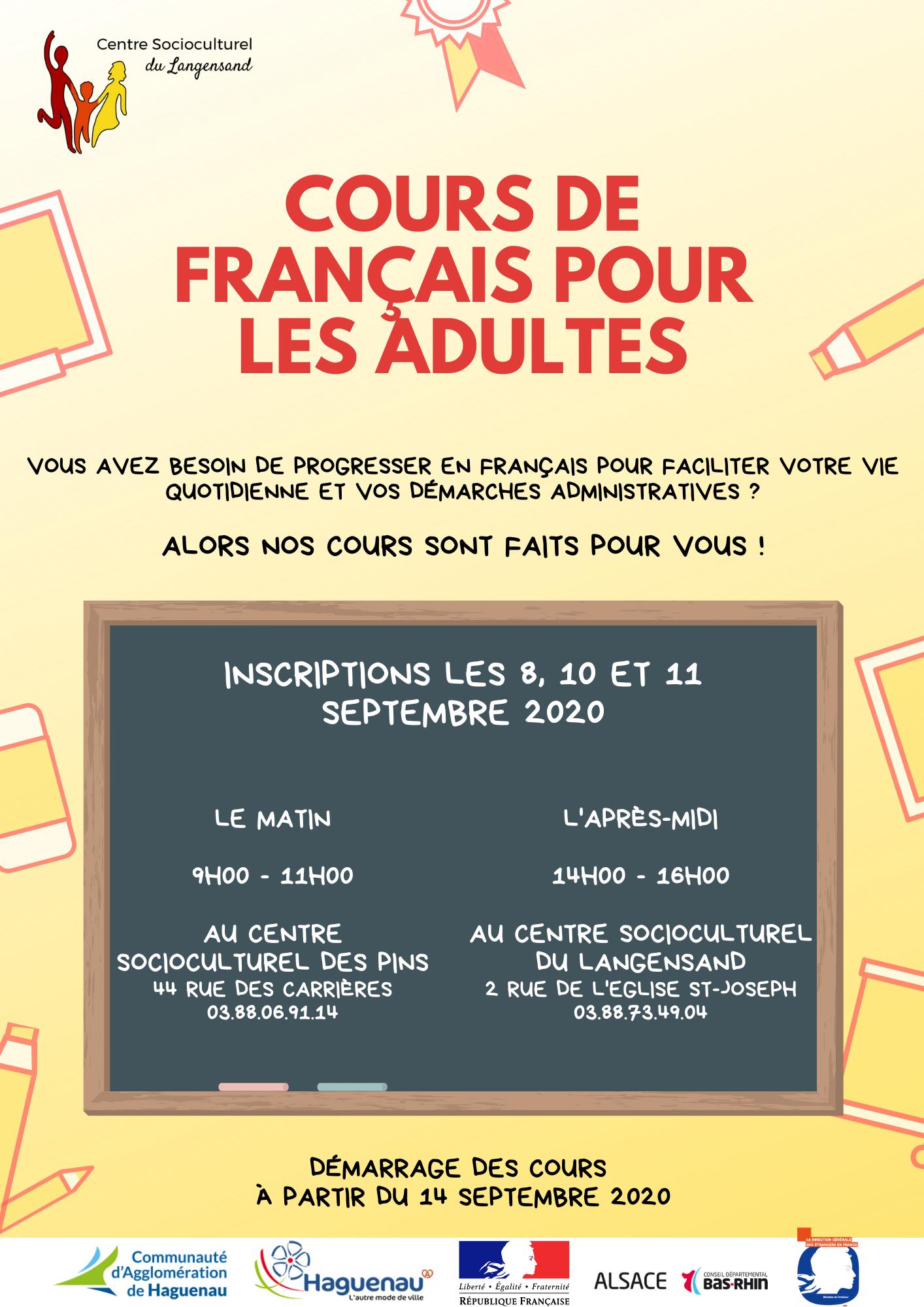 Cours de Français pour les adultes