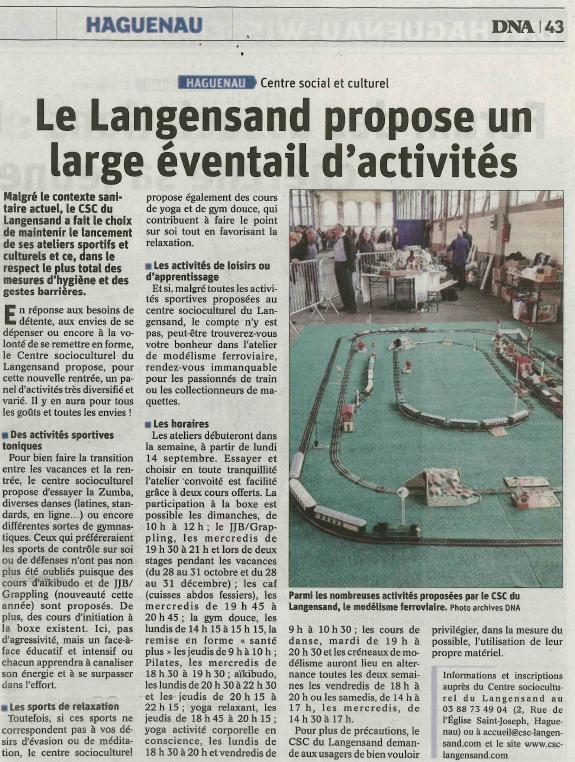 Le centre socioculturel du Langensand fait sa rentrée !