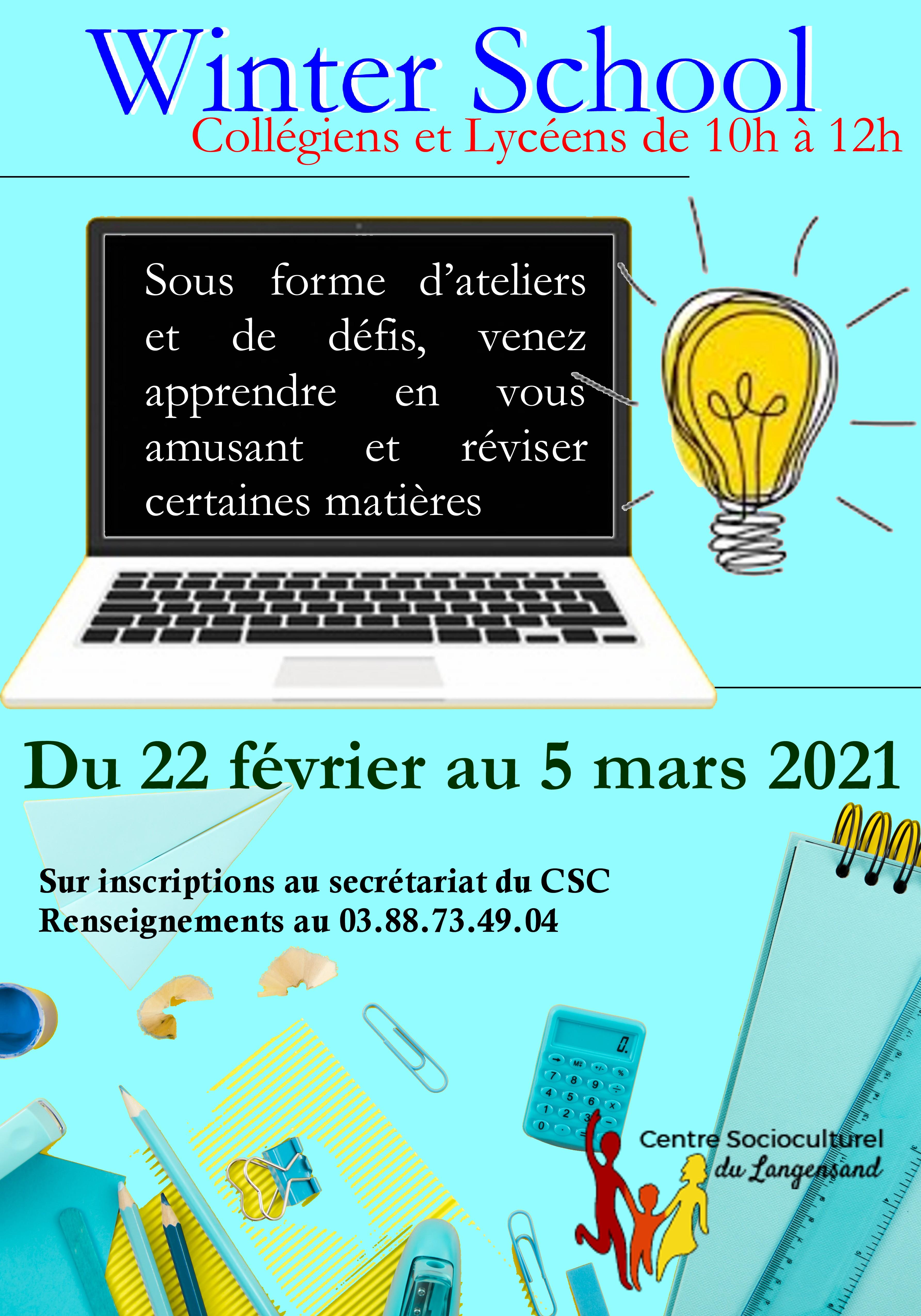 Winter School Collégiens et Lycéens