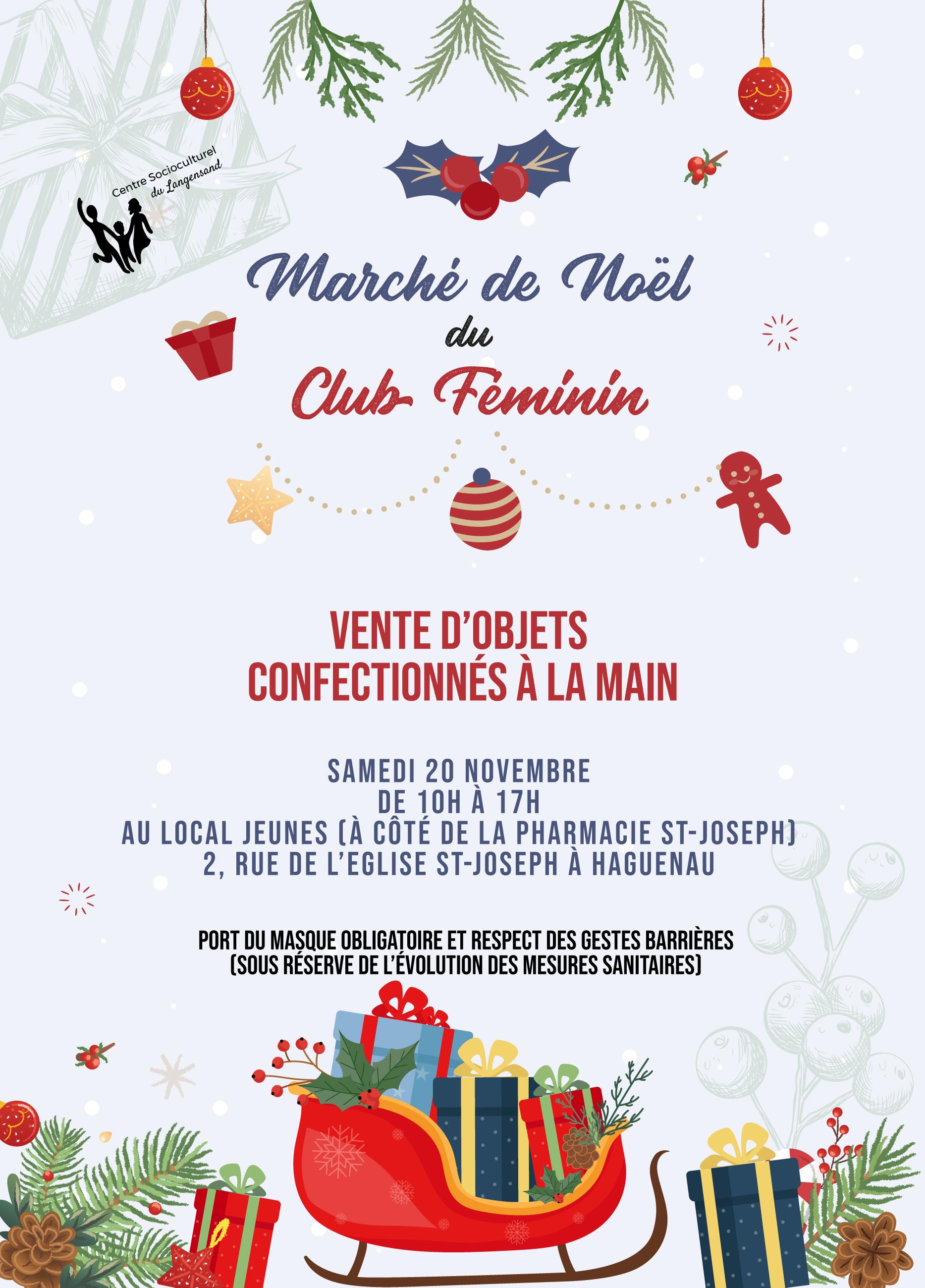 Marché de Noël du Club Féminin